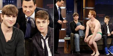 Justin Bieber, Ahston Kutcher