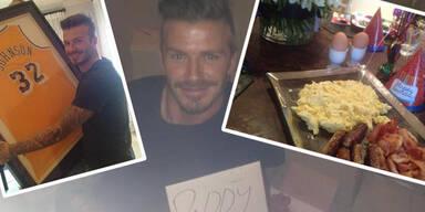 David Beckham: Geburtstags-Fotos auf Facebook