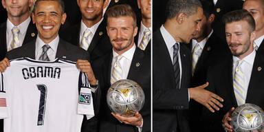 David Beckham zu Besuch bei Barack Obama