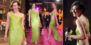 Milla Jovovich in Neon am Life Ball!