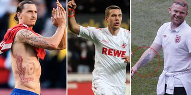 Die Tattoos der Fußball-Stars