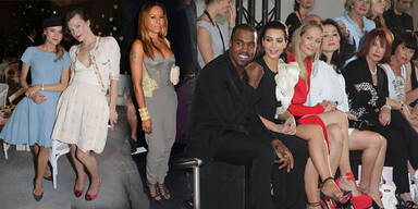 Kim, Milla und Co bei den Defilees in Paris
