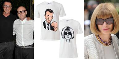 Anna Wintour, Karl und Co zieren T-Shirts