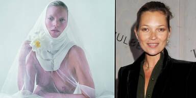 Kate Moss posiert als Oben Ohne-Nonne