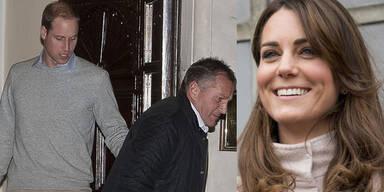 Herzogin Kate im Krankenhaus; Prinz William zu Besuch