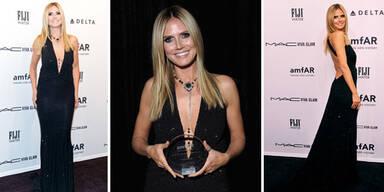 Heidi Klum wird mit einem Award ausgezeichnet