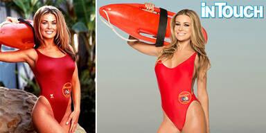 Carmen Electra posiert im Baywatch-Badeanzug