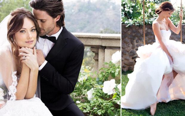 Olivia Wilde posiert als Braut
