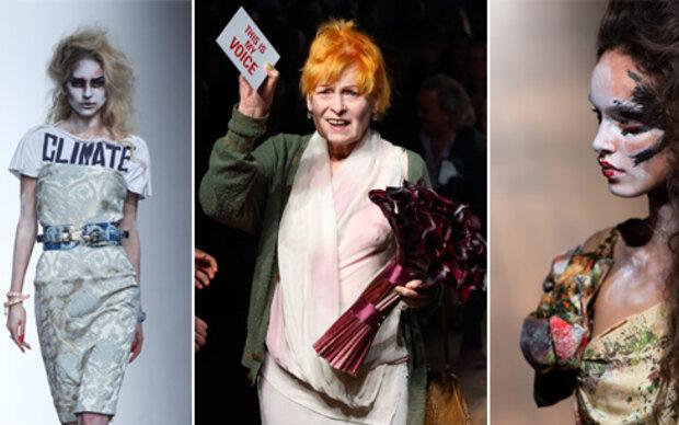 Westwood schockt mit bizarren Make Ups