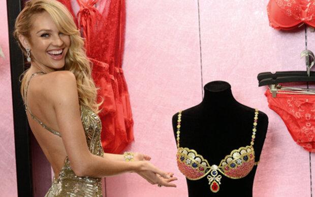 Candice präsentiert den Millionen-BH