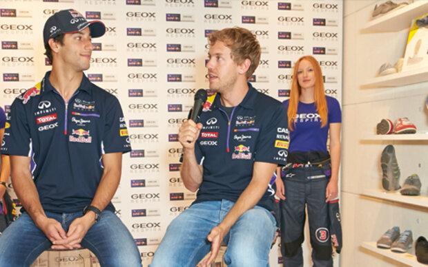 8540dcffa927ec Vettel und Ricciardo  Boxenstopp in Wien