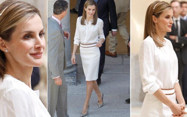 Königin Letizia: cremeweiße Eleganz