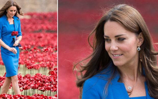 Kate im blutroten Blumenmeer