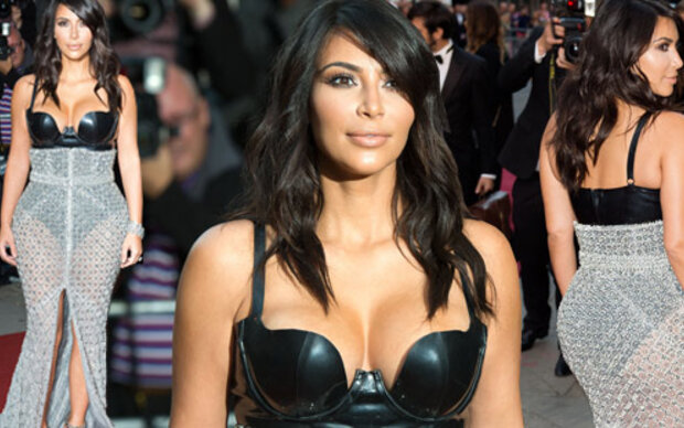Kim Kardashian im Fetisch-Look