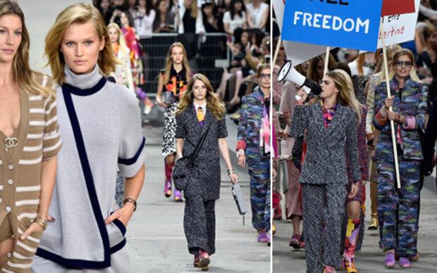 Chanel-Protest angeführt von Cara Delevingne