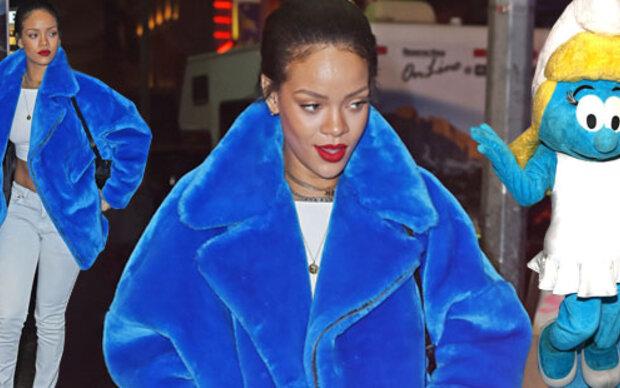 Rihanna im Schlumpfinen-Look