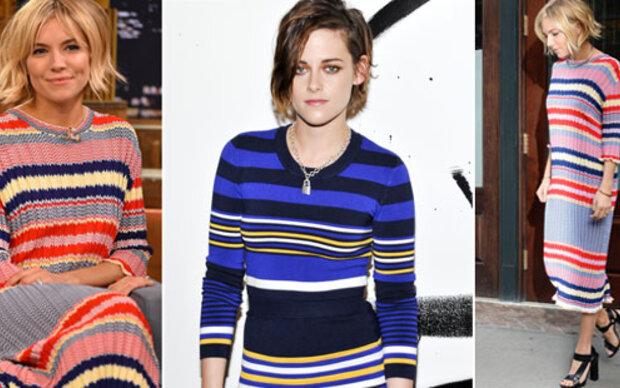 Kristen & Sienna im Streifen-Trend