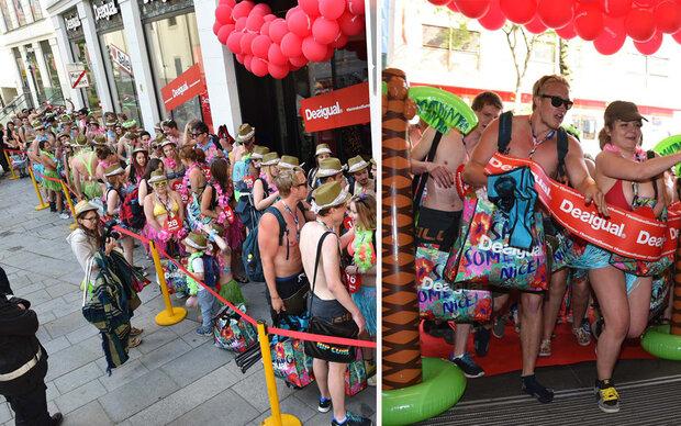 Beachgirls & -boys stürmen Desigual-Store