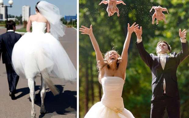 Die schrägsten Hochzeitsfotos