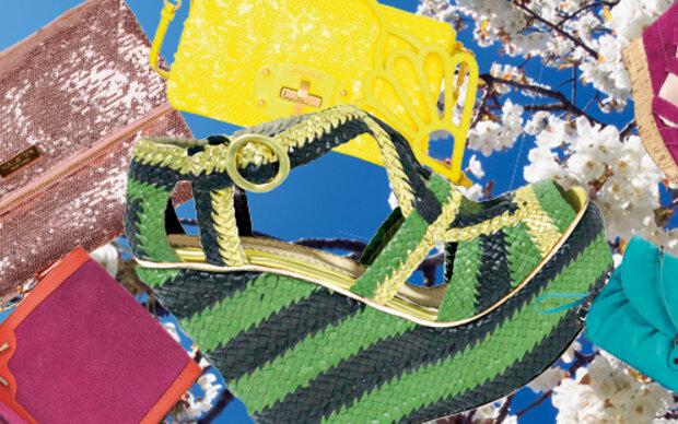 Frische Farben für Minibags & High Heels