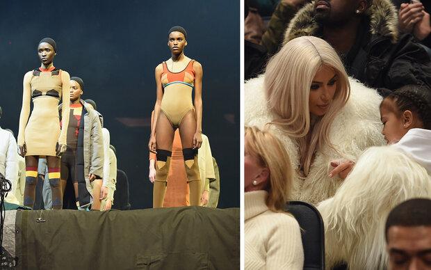 Kim & Nori im Yeti-Look unterstützen Kanye
