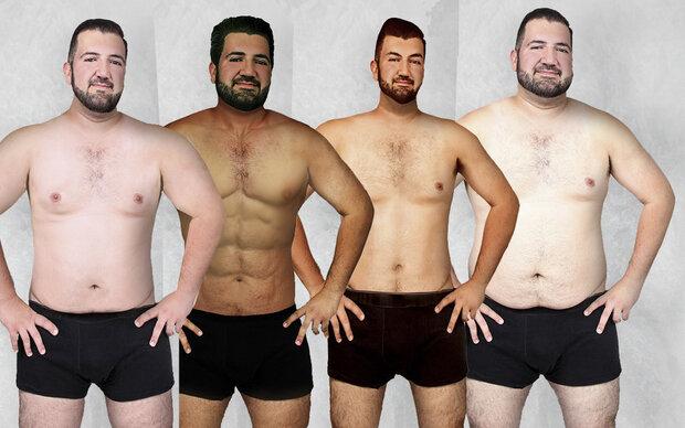 1 Männerkörper – 18 unterschiedliche Figurideale