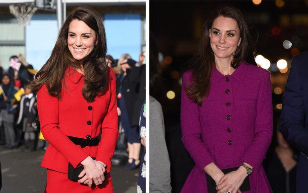 Herzogin Kate: ein Tag, zwei Looks