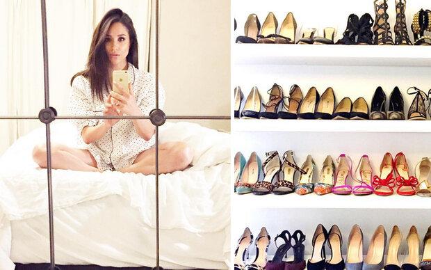 Meghan Markle öffnet ihren Schuhschrank