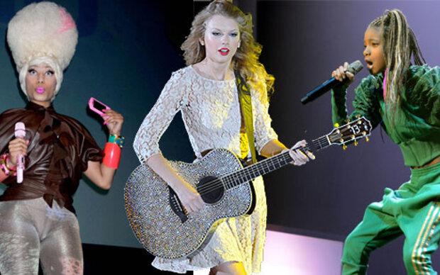 Die Bühnenoutfits der Stars im Vergleich