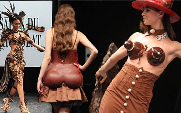 Schoko-Fashion Show in Paris