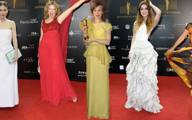 Die deutschen Stars posen am roten Teppich