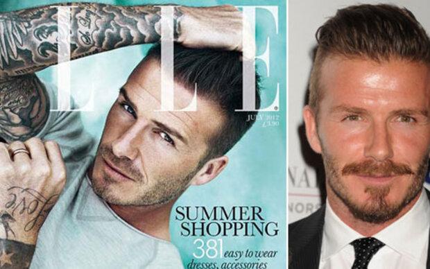 David Beckham als erstes männliches Covergirl