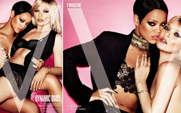 Rihanna & Kate Moss posieren halbnackt