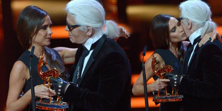 Beckham mit Mode-Preis von Lagerfeld geehrt