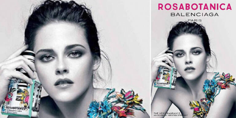 Stewart: Oben ohne für Parfum-Werbung
