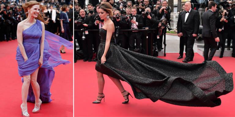Stürmische Red Carpet-Momente in Cannes