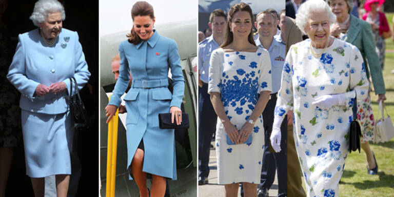 Kate und Queen im Partnerlook