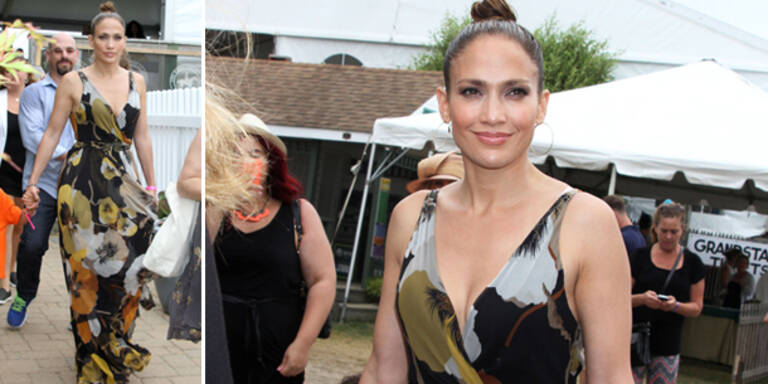 Jennifer Lopez im Safari-Maxikleid