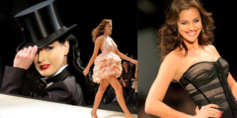 Dita am Catwalk der Istanbul Fashion Week