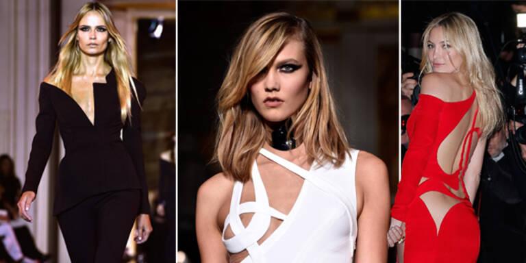 Versaces Kurven eröffneten die Schauen