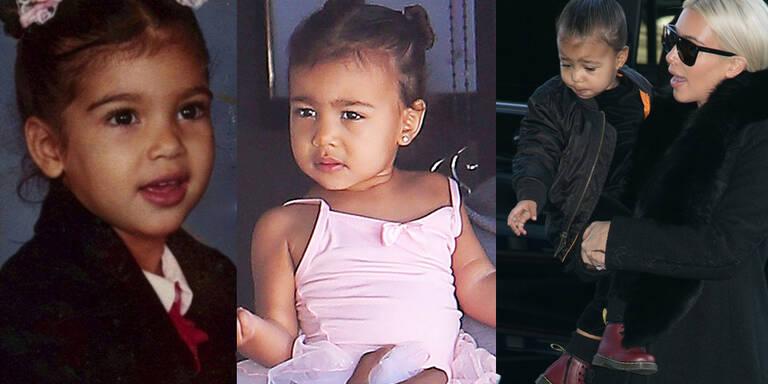 "Kim Kardashian stylt Nori zum ""Mini-Me"""