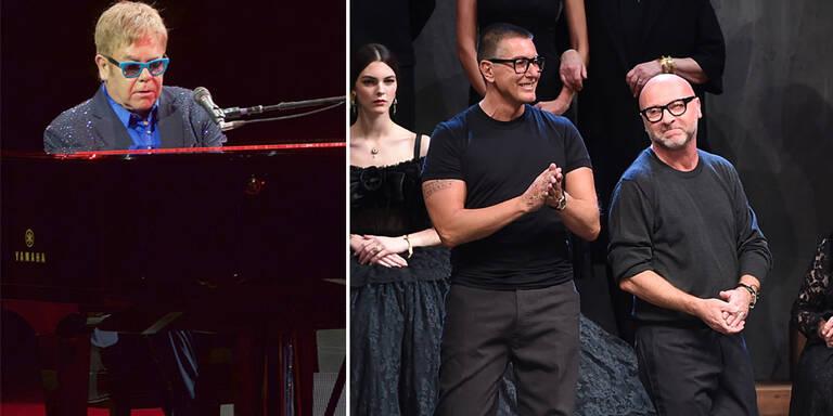 Elton John beendete Boykott von Dolce & Gabbana