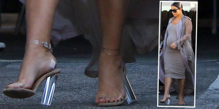 Kim ist zu schwer für ihre Schuhe