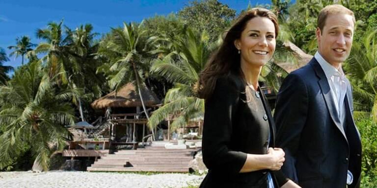 Prinz William und Kate im privaten Inselparadies auf den Seychellen: Hier haben sie absolute Ruhe, ihnen werden alle Wünsche erfüllt.