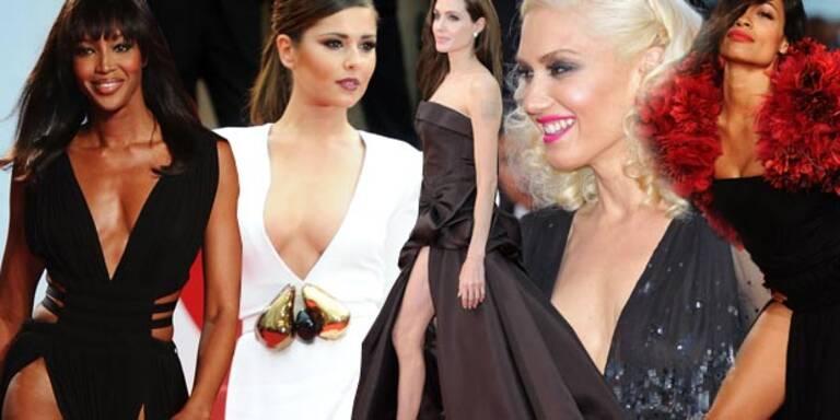 Naomi Campbell, Angelina Jolie, Gwen Stefani, Cheryl Cole, Rosario Dawson: Die tiefsten Ausschnitte und höchsten Beinschlitze aus Cannes.