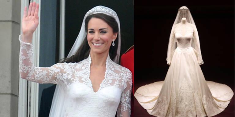 Kates Brautkleid wird ausgestellt