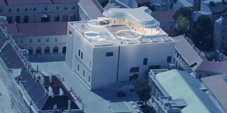 Netz lacht über 'Penis' am Dach des Leopold-Museums