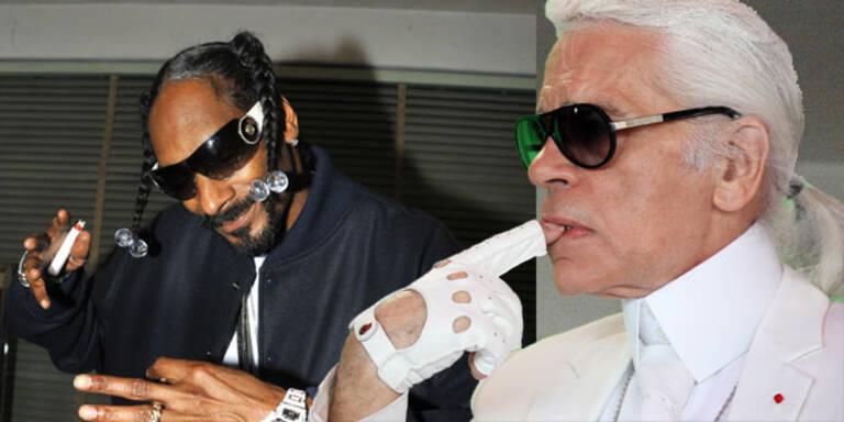 Lagerfeld dreht Video für Snoop Dog