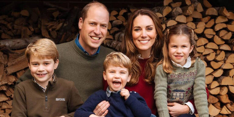 William, Kate & Co.: Weihnachtsgrüße vom Heuballen