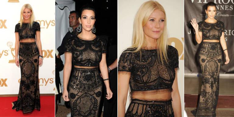 Gwyneth und Kim tragen dasselbe Kleid